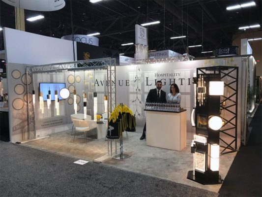 10x20 Trade Show Booth Rental Package 209 - Avenue Lighting - LV Exhibit Rentals in Las Vegas