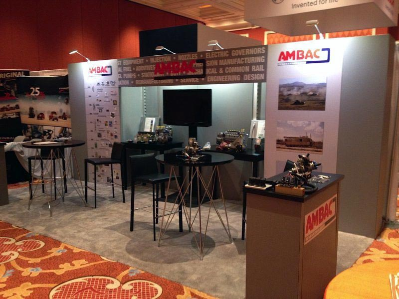 10x20 Trade Show Booth Rental Package 215 - Ambac - LV Exhibit Rentals in Las Vegas