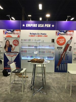 10x20 Trade Show Booth Rental Package 217 - Empire USA Pen - LV Exhibit Rentals in Las Vegas