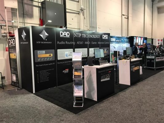 10x20 Trade Show Booth Rental Package 228 Variation - NTP Technology - LV Exhibit Rentals in Las Vegas