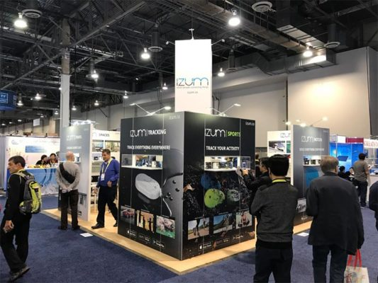 20x20 Trade Show Booth Rental Package 401 - Izum - LV Exhibit Rentals in Las Vegas