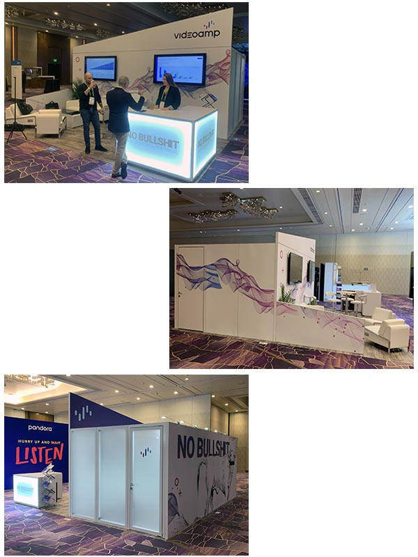 20x20 Trade Show Booth Rental Package 402 - Videoamp CES 2019 - LV Exhibit Rentals in Las Vegas