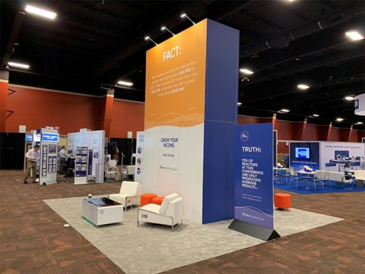 20x20 Trade Show Booth Rental Package 406A - LV Exhibit Rentals in Las Vegas