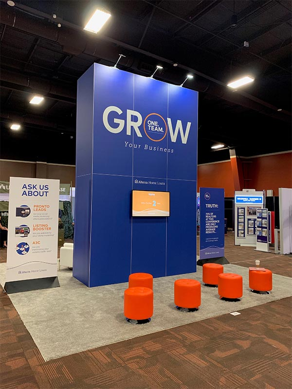 20x20 Trade Show Booth Rental Package 406A - Rear View - LV Exhibit Rentals in Las Vegas