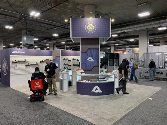 20x20 Trade Show Booth Rental Package 437 - LV Exhibit Rentals in Las Vegas