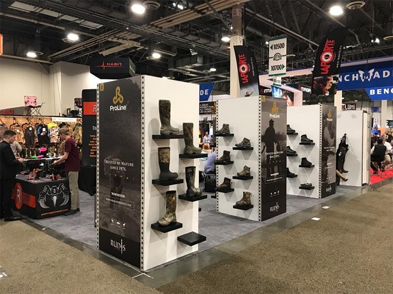 20x20 Trade Show Booth Rental Package 438 - LV Exhibit Rentals in Las Vegas