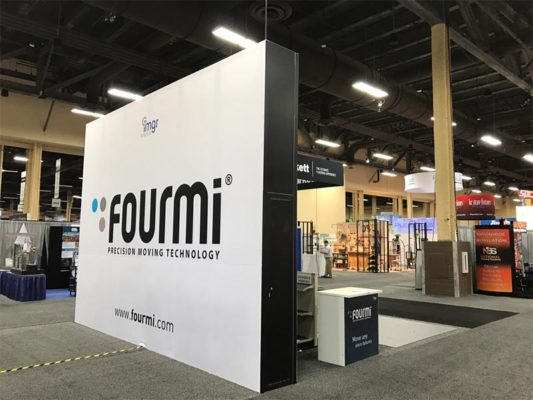 20x20 Trade Show Booth Rental Package 443 - Fourmi - LV Exhibit Rentals in Las Vegas