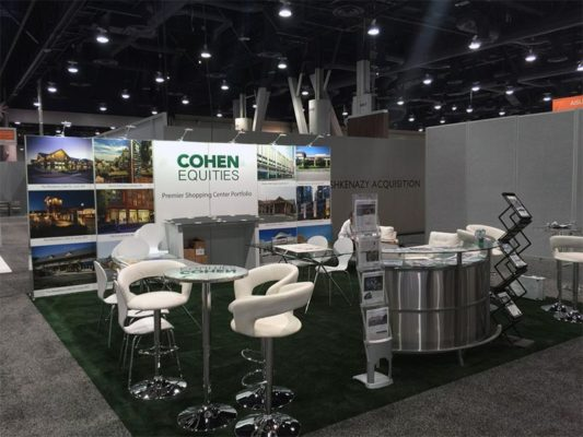 20x20 Trade Show Booth Rental Package - Cohen Equities - LV Exhibit Rentals in Las Vegas