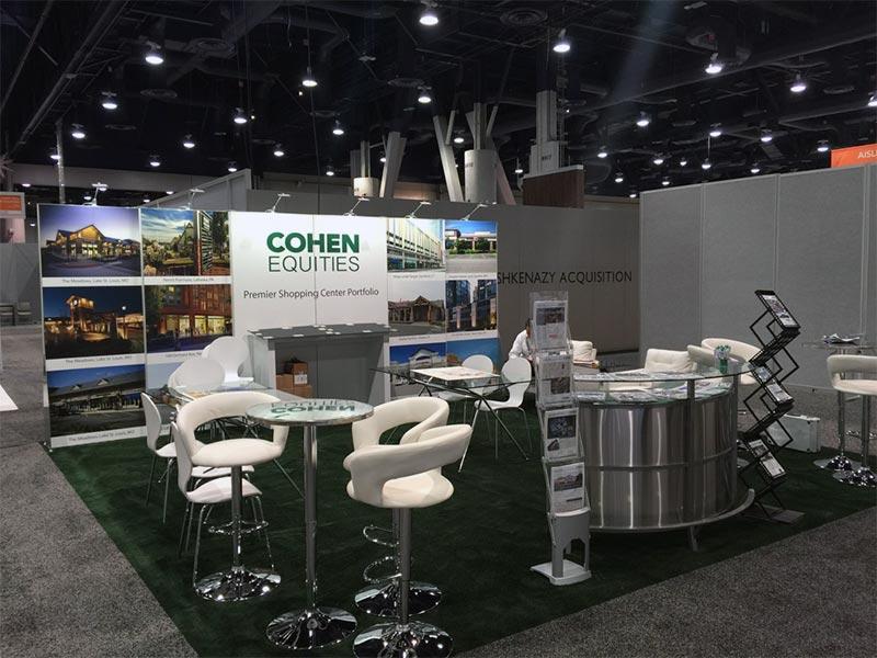 20x20 Trade Show Booth Rental Package - Cohen Equities - LV Exhibit Rentals in Las Vegas