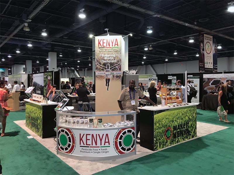 20x20 Trade Show Booth Rental Package - Kenya - LV Exhibit Rentals in Las Vegas