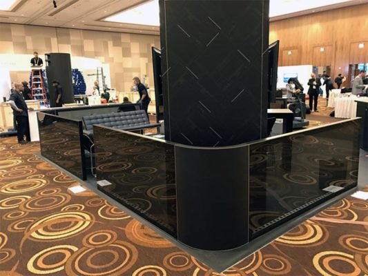 20x20 Trade Show Booth Rental Package - Videoamp CES 2017 - Custom Pony Walls - LV Exhibit Rentals in Las Vegas