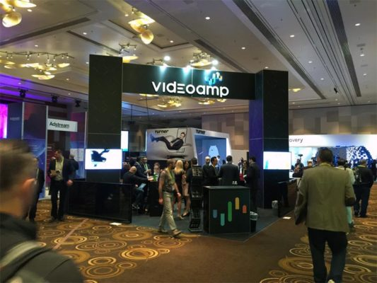 20x20 Trade Show Booth Rental Package - Videoamp CES 2017 - LV Exhibit Rentals in Las Vegas