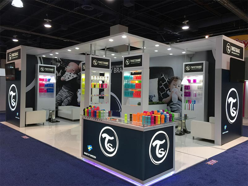 20x30 Trade Show Booth Rental Package 500 - LV Exhibit Rentals in Las Vegas