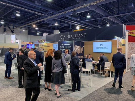 20x30 Trade Show Booth Rental Package 501 - Heartland Dental Recon 2019 - LV Exhibit Rentals in Las Vegas