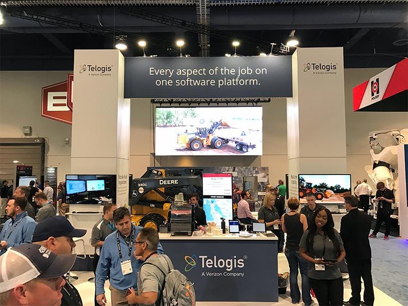 20x40 Trade Show Booth Rental Package - Telogis - LV Exhibit Rentals in Las Vegas