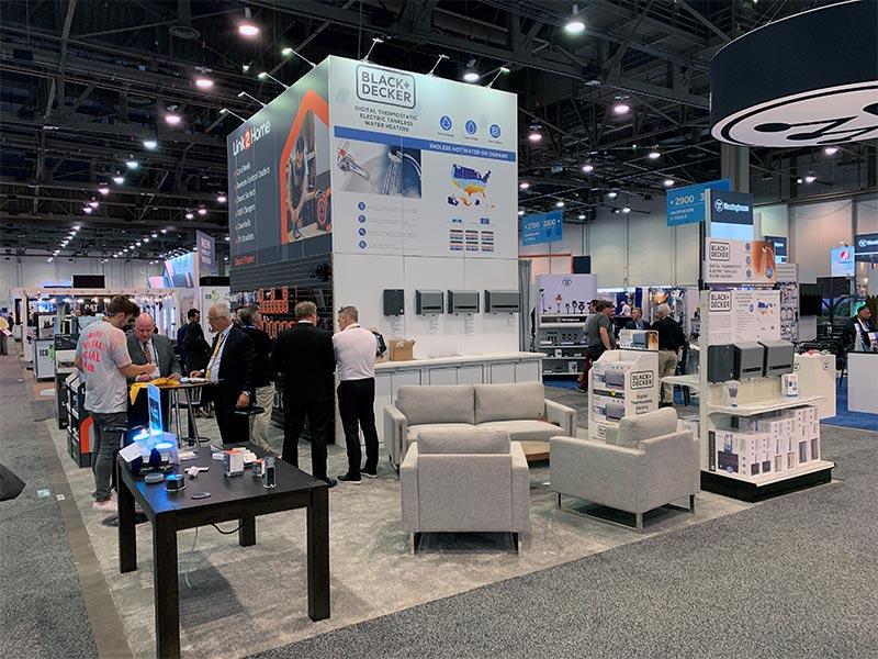 20x30 Trade Show Booth Rental Package 505 - LV Exhibit Rentals in Las Vegas