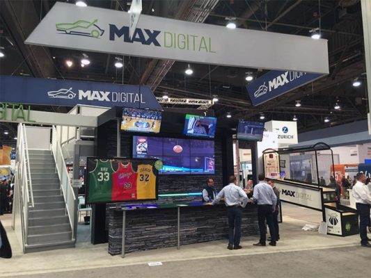 2x3 LED Video Wall Rental - Wall Mounted - LV Exhibit Rentals in Las Vegas