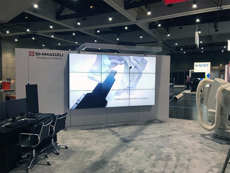 3x3 LED Video Wall Rental - Wall Mounted - LV Exhibit Rentals in Las Vegas