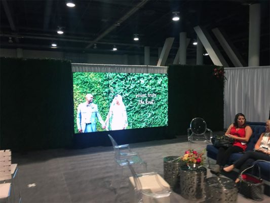 3x3 Nearly Seamless Video Wall Rental - LV Exhibit Rentals in Las Vegas