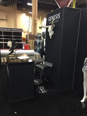 Black Furgus Adjustable Bar Stools - LV Exhibit Rentals in Las Vegas