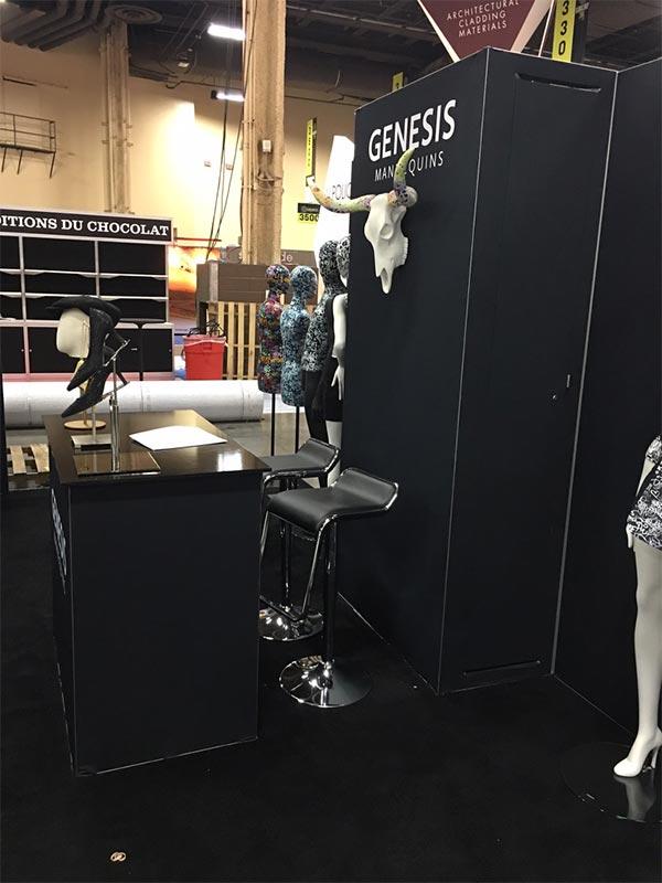 Black Furgus Adjustable Bar Stools - LV Exhibit Rentals in Las Vegas