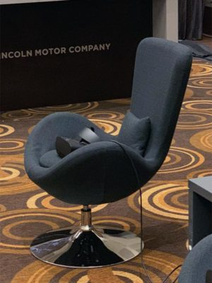 Black Grand Lounge Chair Rentals - LV Exhibit Rentals in Las Vegas