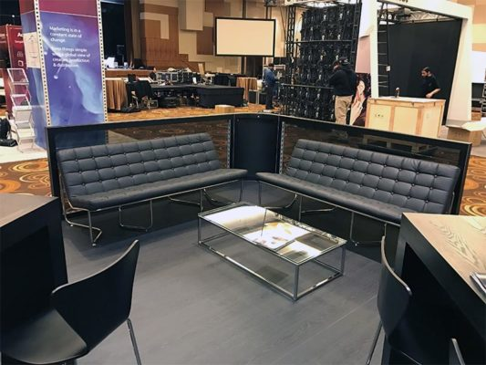 Black Lounge Seating Rentals - LV Exhibit Rentals in Las Vegas