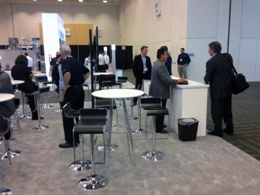 Bravo Bar Tables in White - LV Exhibit Rentals in Las Vegas