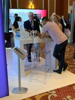 Clear Isabelle Bar Stool Rentals - LV Exhibit Rentals in Las Vegas