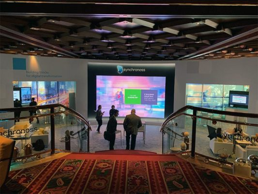 Curved Video Wall - CES 2019 - LV Exhibit Rentals in Las Vegas