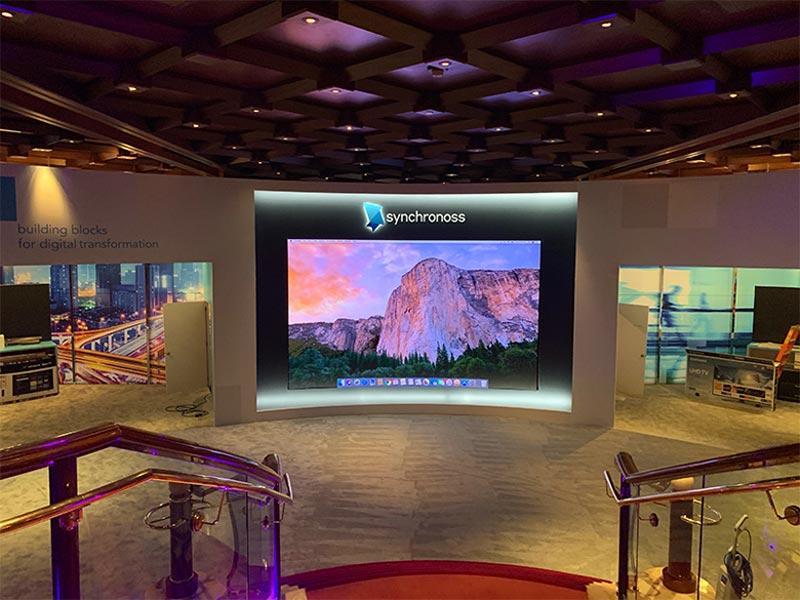 Curved Video Wall Rental - CES 2019 - LV Exhibit Rentals in Las Vegas