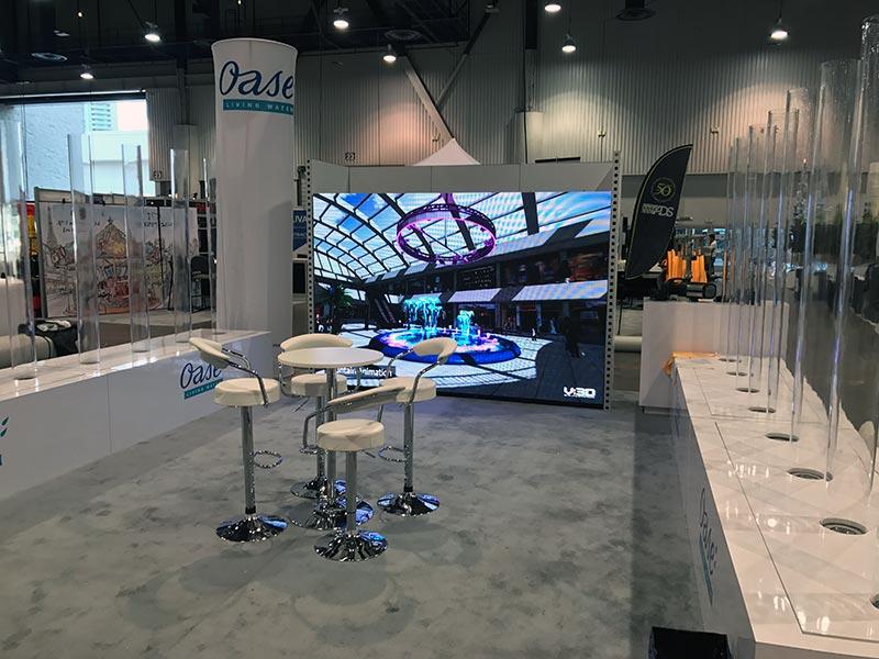 Draco Adjustable Bar Stools in White - LV Exhibit Rentals in Las Vegas