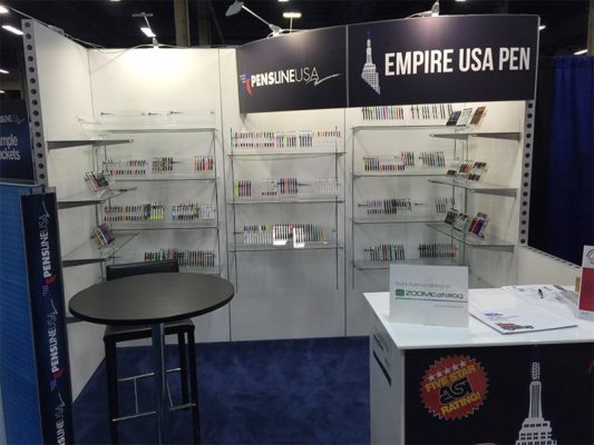 Empire USA Pen- 10x10 Trade Show Booth Rental Package 118 - LV Exhibit Rentals in Las Vegas