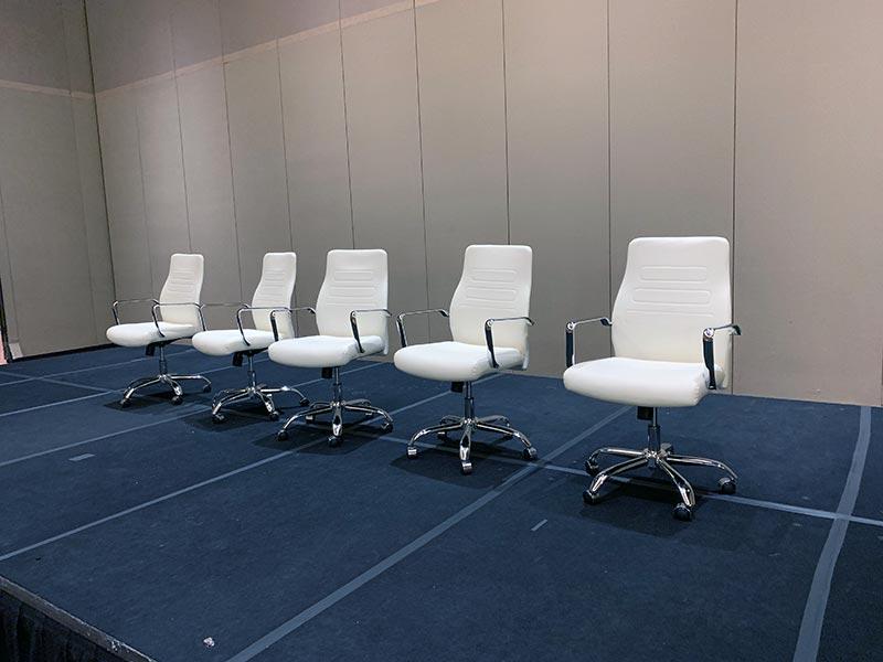 Fenella Office Chairs in White - LV Exhibit Rentals in Las Vegas