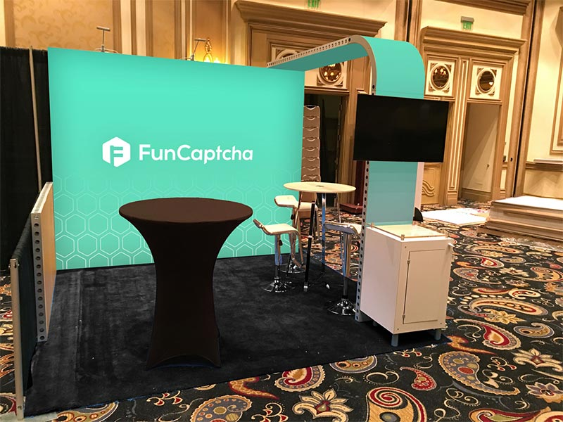 Funcaptcha - 10x10 Trade Show Booth Rental Package 100 - LV Exhibit Rentals in Las Vegas