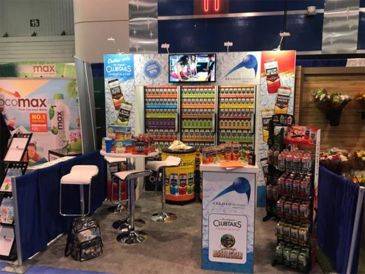 Geloso Beverage - 10x10 Trade Show Booth Rental Package 101 - LV Exhibit Rentals in Las Vegas