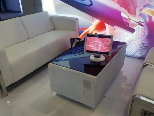 Jolt USB Sofa and Lounge Chairs with Jolt Sobro Coffee Table - LV Exhibit Rentals in Las Vegas