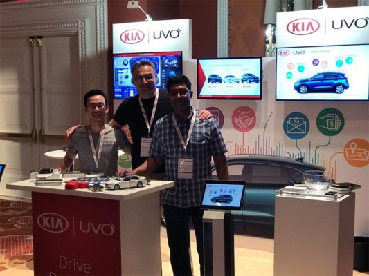 Kia Uvo - 10x10 Trade Show Booth Rental Package 115 - LV Exhibit Rentals in Las Vegas