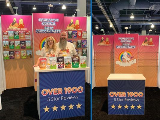 Lil Stinker - 10x10 Trade Show Booth Rental Package 102 - LV Exhibit Rentals in Las Vegas