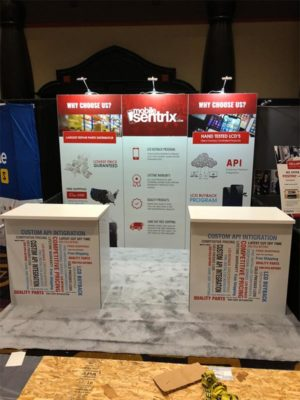 Mobile Sentrix - 10x10 Trade Show Booth Rental Package 105 Variation - LV Exhibit Rentals in Las Vegas