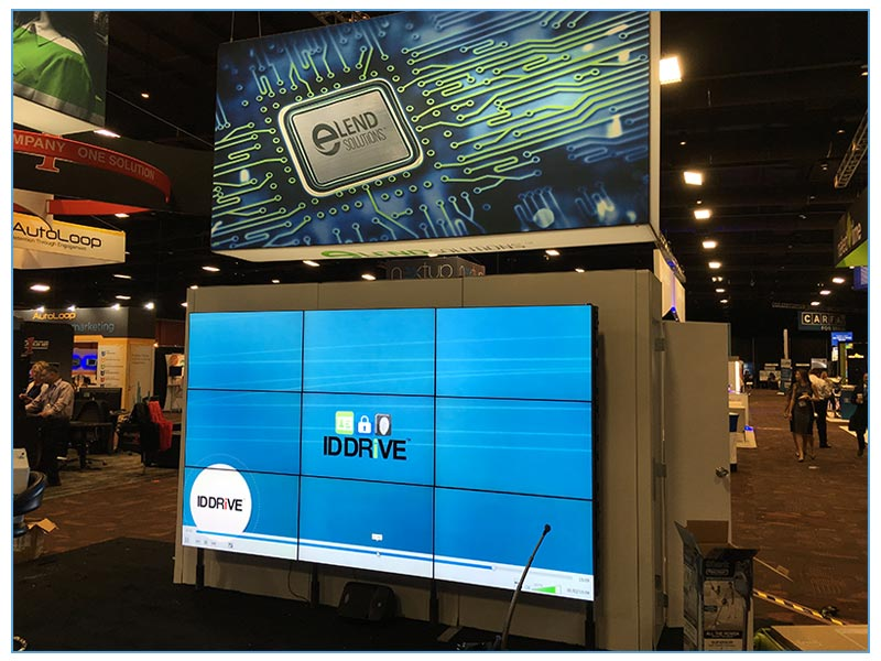 Nearly Seamless LED Video Wall Rentals - 3x3 - LV Exhibit Rentals in Las Vegas