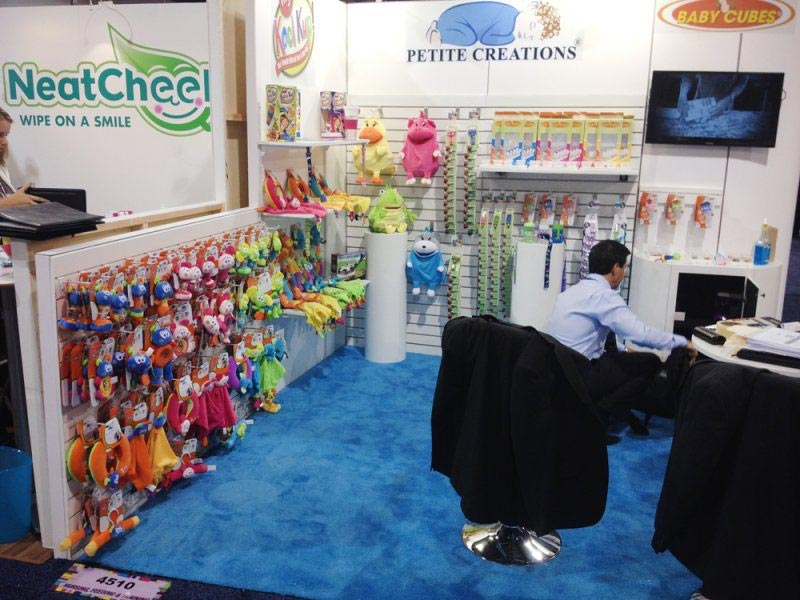 Petite Creations - 10x10 Trade Show Booth Rental Package 106 - LV Exhibit Rentals in Las Vegas