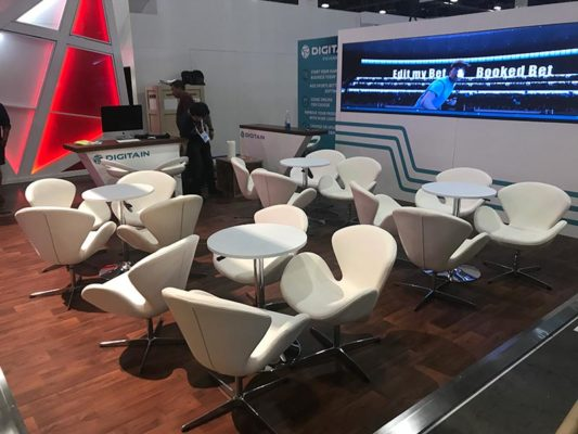 Pori Lounge Chairs - White - LV Exhibit Rentals in Las Vegas