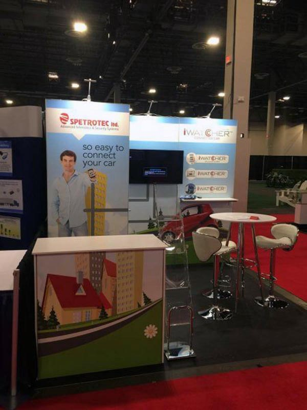 Spetrotec- 10x10 Trade Show Booth Rental Package 108 Variation - LV Exhibit Rentals in Las Vegas