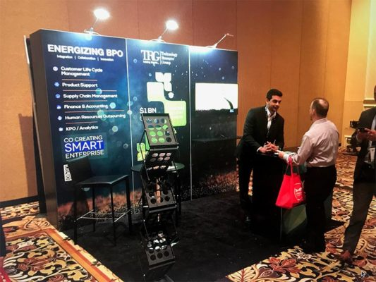 Technology Resource Group - 10x10 Trade Show Booth Rental Package 105 Variation - LV Exhibit Rentals in Las Vegas