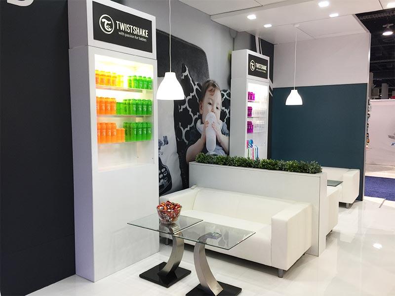 Twist Sofas in White - LV Exhibit Rentals in Las Vegas