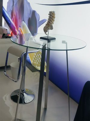 Ursula Bar Table - 32in Round - LV Exhibit Rentals in Las Vegas
