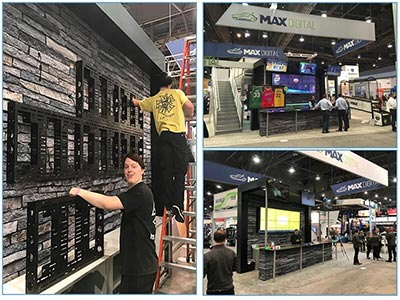 Video Wall Rentals - 2x3 Wall Mount - LV Exhibit Rentals in Las Vegas