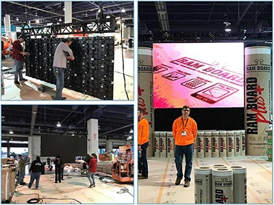 Video Wall Rentals - Flying - Install to Completion - LV Exhibit Rentals in Las Vegas