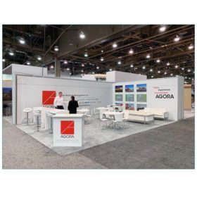 20x30 Trade Show Booth Rental Package 502 - Agora - LV Exhibit Rentals in Las Vegas
